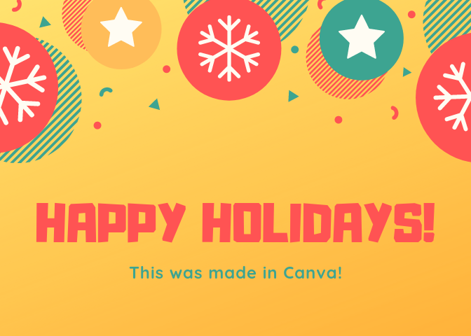 Example of an ecard made in Canva
